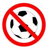 Żadny piłki nożnej lub futbolu znak, Zdjęcie Royalty Free