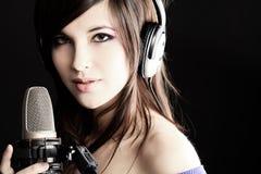 ładny piosenkarz Zdjęcie Stock