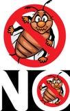 Żadny pluskwy Zatrzymuje pluskwa znaka Ikona dla projekta lub loga Obraz Royalty Free