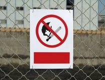 Żadny Pożarniczy znak Zdjęcie Royalty Free