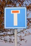Żadny - przez drogi (martwy koniec) Fotografia Stock