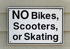 Żadny roweru znak Fotografia Stock