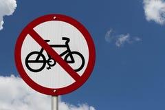 Żadny rowery Pozwolić znaki Zdjęcia Stock
