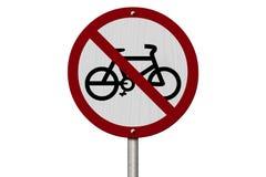 Żadny rowery Pozwolić znaki Obraz Royalty Free
