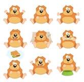 Ładny set kreskówka psy Obrazy Stock