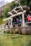 Żadny siklawa przy Kiyomizu świątynią Fotografia Royalty Free