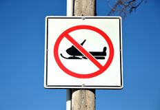 Żadny snowmobile znak Obraz Royalty Free