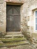 Ładny stary drzwiowy drewno Obrazy Stock