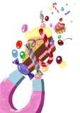 Żadny sweeties bez magnesu Royalty Ilustracja