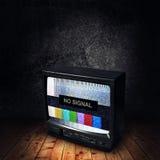 Żadny sygnał na TV zdjęcia royalty free