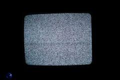 Żadny sygnału TV ekran Zdjęcia Royalty Free