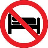 Żadny sypialny znak Zdjęcie Stock