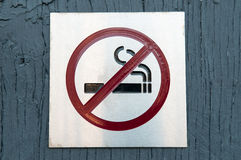 żadny szyldowy dymienie Zdjęcie Royalty Free
