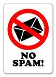 żadny szyldowy spam Zdjęcie Stock