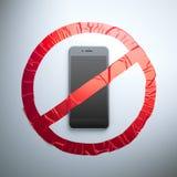 Żadny telefon komórkowy tkaniny znak royalty ilustracja