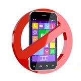 Żadny telefonu komórkowego znak Obrazy Stock