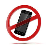 Żadny telefonu komórkowego znak Zdjęcia Stock