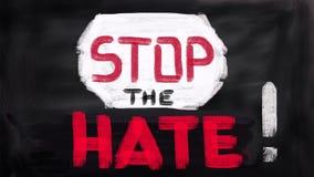 Żadny terroru pojęcie, zatrzymuje nienawiść Obraz Stock