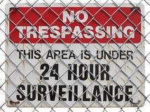 Żadny trespassing znak Zdjęcia Royalty Free