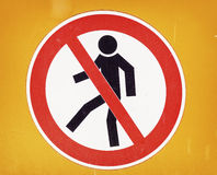 Żadny trespassing znak Fotografia Stock