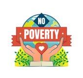 Żadny ubóstwo loga wektorowa odznaka Zdjęcia Stock