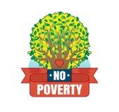 Żadny ubóstwo loga wektorowa odznaka Zdjęcia Royalty Free
