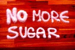 Żadny więcej cukrowy znak obraz royalty free