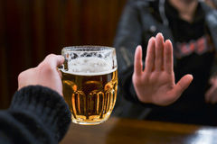 Żadny więcej piwo dla ja Fotografia Stock