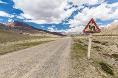 Ładny widok Pamir w Tajikistan Obraz Stock