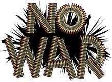 ŻADNY wojna, pocisk typografii wektoru ilustracja Ilustracji
