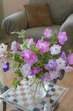 Ładny wygodny rodzinny pokój z wiosna kwiatami Fotografia Stock