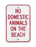 Żadny zwierze domowy Na plaża znaku Zdjęcia Stock