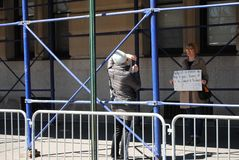Adoção do animal de estimação, controlo de armas, março por nossas vidas, protesto, NYC, NY, EUA Fotos de Stock