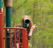 Ado au parc -6 Photo libre de droits