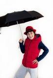 Ado heureux avec Autumn Clothes Image libre de droits