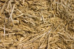 Frame house made of straw. Facade Royalty Free Stock Photography