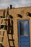 Adobe Abode. An adobe dwelling near Taos, New Mexico Royalty Free Stock Images