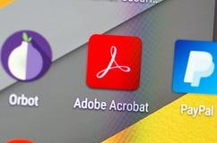 Adobe Acrobat immagine stock