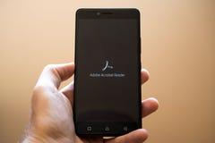 Adobe Acrobat Reader fotografia stock