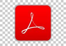 Adobe Acrobat Reader app móvel ilustração do vetor