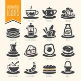 Adobe all frukost colors skapat enkelt för set för global illustratör för lutningsymbolssymboler realistiskt använt Royaltyfri Fotografi