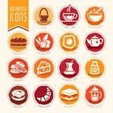 Adobe all frukost colors skapat enkelt för set för global illustratör för lutningsymbolssymboler realistiskt använt Arkivfoton