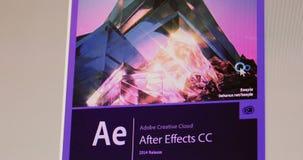 Adobe après début de cc d'effets banque de vidéos