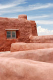 Adobe architecture. Adobe style architectural detail - roof Stock Images