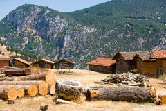 Adobe Barns of Turkey Stock Image