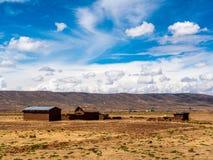Adobe-Bauernhof in Bolivien Lizenzfreie Stockbilder