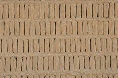 Adobe-Blöcke von einem Huaca, Miraflores, Peru Stockfoto