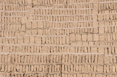 Adobe blocks from a Huaca, Miraflores, Peru Royalty Free Stock Photography