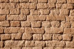 Adobe brick wall detail Stock Image