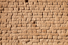 Adobe brick wall Royalty Free Stock Photo